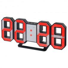 "LED часы-будильник PERFEO ""LUMINOUS"", чер корп/ крас подсв PF-663(PF-5197)"