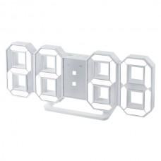 "LED часы-будильник PERFEO ""LUMINOUS"", бел корп/ бел подсв PF-663(PF-5200)"
