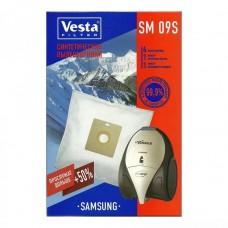 Пылесборник VESTA FILTER SM 09S (синтетика, 4шт+ 2фильтра)