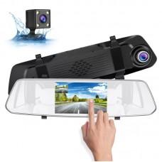 Видеорегистратор-зеркало BLACK BOX DVR LX-455L  (TouchScreen,Full HD+Камера заднего вида)
