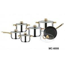 Набор посуды MERCURY MC-6008 (12предметов)