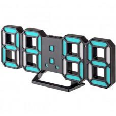 """LED часы-будильник PERFEO """"LUMINOUS 2"""", чёрн корп/ синяя подсв (PF-6111) PF B4928"""