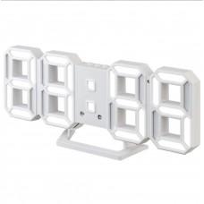 "LED часы-будильник PERFEO ""LUMINOUS 2"", бел корп/ бел подсв (PF-6111) PF B4921"