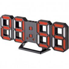 "LED часы-будильник PERFEO ""LUMINOUS 2"", чёрн корп/ красный подсв (PF-6111) PF B4927"