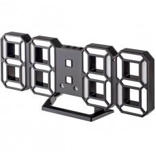 "LED часы-будильник PERFEO ""LUMINOUS 2"", чёрн корп/ бел подсв (PF-6111) PF B4925"
