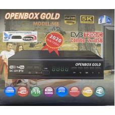 Цифровая приставка OPENBOX GOLD  T200/C (M8)( Wi-Fi, USB,шнур, ДУ,инструкция, мет.корпус)