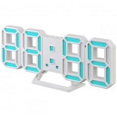"""LED часы-будильник PERFEO """"LUMINOUS 2"""", бел корп/ синяя подсв (PF-6111) PF B4924"""