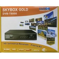 Цифровая приставка SKYBOX GOLD T8000 (DVB-T2/C, WI-FI,2 USB, метал корпус,инструкция)