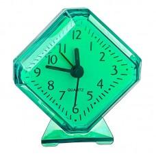 """Будильник PERFEO Quartz """"PF-TC-002"""",ромб, 7,5*8,5см,зелёный (PF_C3093)"""