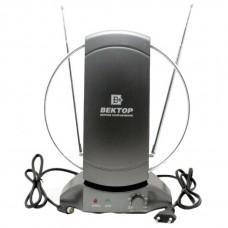 Антенна комнатная  ВЕКТОР AR-031 активная для DVB-T2 ( пит 220В)
