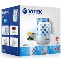Чайник VITEK VT-7048 (1,7л,прозрачный пластик,синяя подсветка)