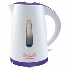 Чайник  МАСТЕРИЦА ЕК-1701Р (бело-фиолетовый)