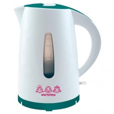 Чайник  МАСТЕРИЦА ЕК-1701М (бело-бирюзовый)