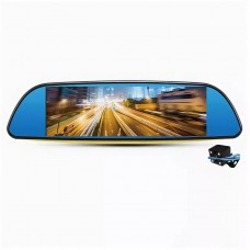 "Видеорегистратор-зеркало CM-T785S  (2 камеры,FULL HD,Touch Screen,экран 7"",металл)"