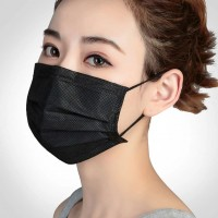 Маска для лица (5 шт в уп) (многоразовая,чёрная)