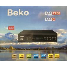 Цифровая приставка BEKO T200  (DVB-T2/C, WI-FI, USB, метал корпус,инструкция)