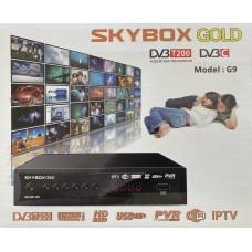 Цифровая приставка SKYBOX GOLD T200 (G9) (DVB-T2/C, WI-FI,2 USB, метал корпус,инструкция)