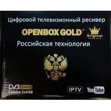 Цифровая приставка OPENBOX GOLD T200/C (M5) (DVB-T2/C, WI-FI,2 USB, метал корпус,инструкция)