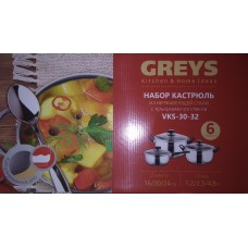Набор посуды GREYS VKS-30-32 (6предметов )
