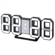 "LED часы-будильник PERFEO ""LUMINOUS"", чер корп/ бел подсв PF-663(PF-5196)"