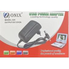 Блок питания для ТВ-приставок ONIX-325 (12V/2А) универсальное гнездо