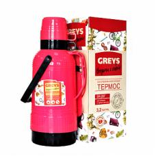 Термос GREYS SM-207 (3,2л,стекло)