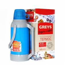 Термос GREYS SM-205 (3,2л,стекло)