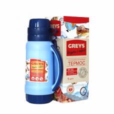 Термос GREYS SM-202 (1,0л, стекло)